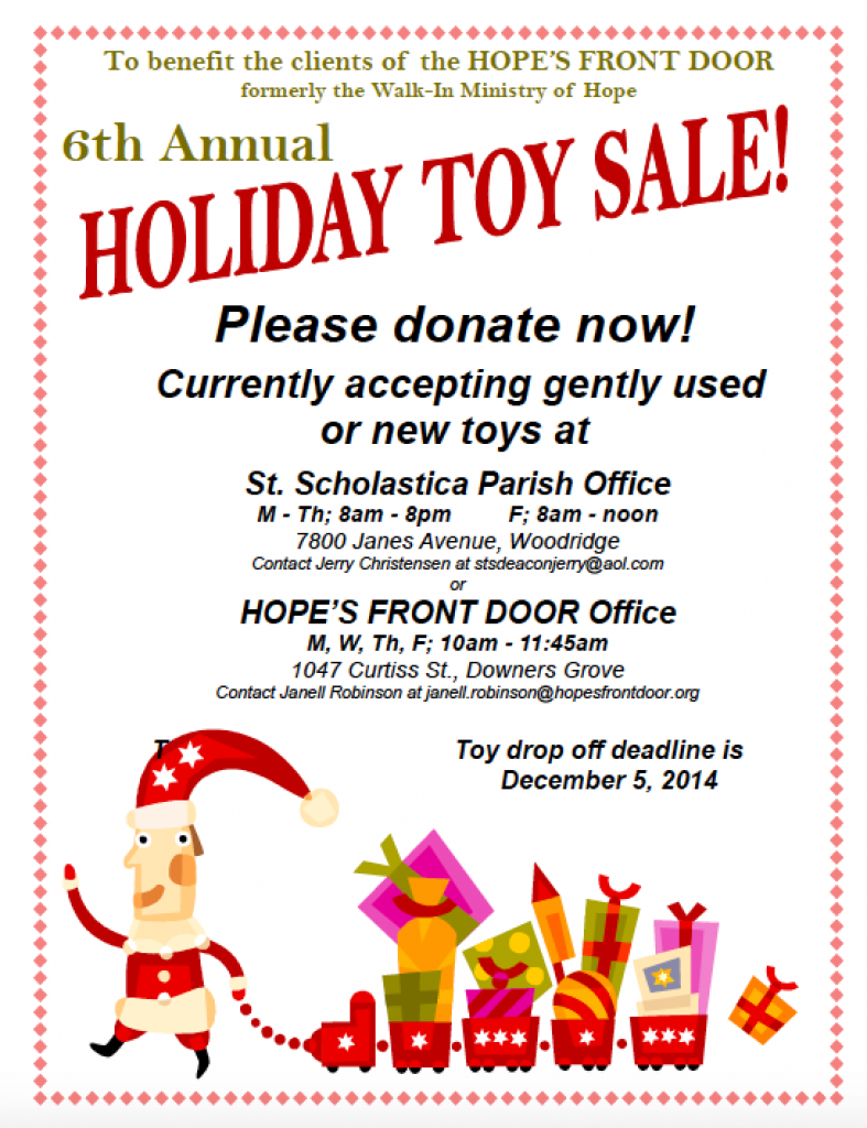 Toy Sale To Benefit HFD!